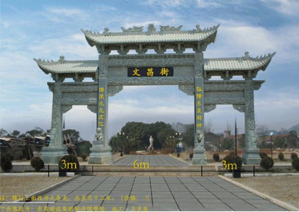文昌街石雕牌坊的样式